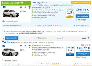 Check24 Mietwagen Preisvergleich
